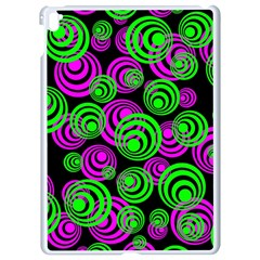 Neon Green And Pink Circles Apple Ipad Pro 9 7   White Seamless Case