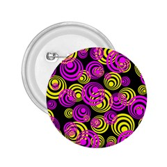 Neon Yellow And Hot Pink Circles 2 25  Buttons