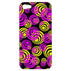 Neon Yellow And Hot Pink Circles Apple Iphone 5 Hardshell Case