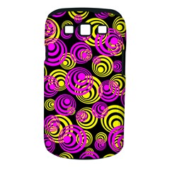 Neon Yellow And Hot Pink Circles Samsung Galaxy S Iii Classic Hardshell Case (pc+silicone)