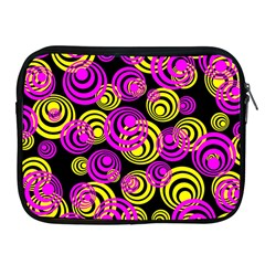 Neon Yellow And Hot Pink Circles Apple Ipad 2/3/4 Zipper Cases