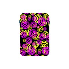 Neon Yellow And Hot Pink Circles Apple Ipad Mini Protective Soft Cases