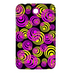 Neon Yellow And Hot Pink Circles Samsung Galaxy Tab 3 (7 ) P3200 Hardshell Case