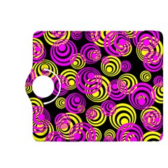Neon Yellow And Hot Pink Circles Kindle Fire Hdx 8 9  Flip 360 Case