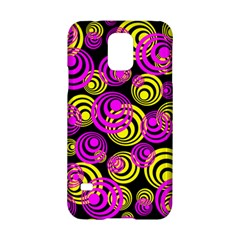 Neon Yellow And Hot Pink Circles Samsung Galaxy S5 Hardshell Case