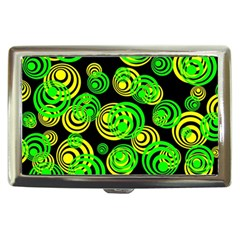 Neon Yellow And Green Circles On Black Cigarette Money Cases