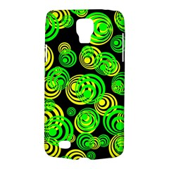Neon Yellow And Green Circles On Black Galaxy S4 Active