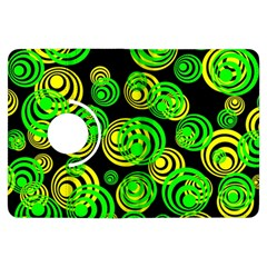 Neon Yellow And Green Circles On Black Kindle Fire Hdx Flip 360 Case