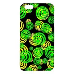 Neon Yellow And Green Circles On Black Iphone 6 Plus/6s Plus Tpu Case