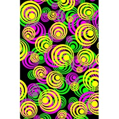 Bright Yellow Pink And Green Neon Circles 5 5  X 8 5  Notebooks