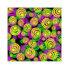Bright Yellow Pink And Green Neon Circles Acrylic Tangram Puzzle (6  X 6 )