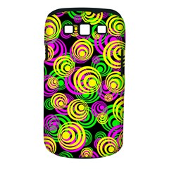 Bright Yellow Pink And Green Neon Circles Samsung Galaxy S Iii Classic Hardshell Case (pc+silicone)