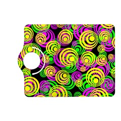 Bright Yellow Pink And Green Neon Circles Kindle Fire Hd (2013) Flip 360 Case