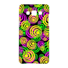 Bright Yellow Pink And Green Neon Circles Samsung Galaxy A5 Hardshell Case