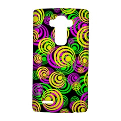 Bright Yellow Pink And Green Neon Circles Lg G4 Hardshell Case