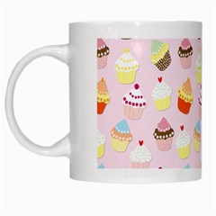 Baby Pink Valentines Cup Cakes White Mugs