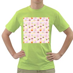 Baby Pink Valentines Cup Cakes Green T Shirt