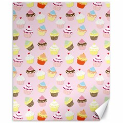 Baby Pink Valentines Cup Cakes Canvas 16  X 20