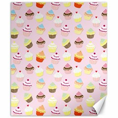 Baby Pink Valentines Cup Cakes Canvas 20  X 24