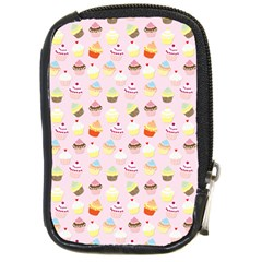Baby Pink Valentines Cup Cakes Compact Camera Cases