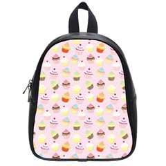 Baby Pink Valentines Cup Cakes School Bag (small)