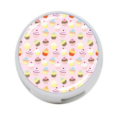 Baby Pink Valentines Cup Cakes 4 Port Usb Hub (one Side)
