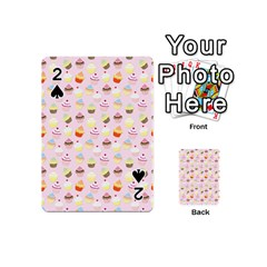 Baby Pink Valentines Cup Cakes Playing Cards 54 (mini)