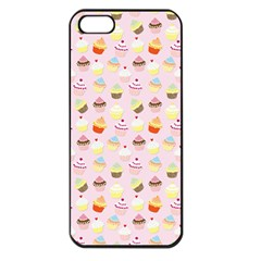 Baby Pink Valentines Cup Cakes Apple Iphone 5 Seamless Case (black)