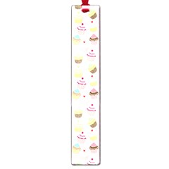 Baby Pink Valentines Cup Cakes Large Book Marks