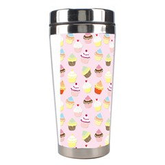 Baby Pink Valentines Cup Cakes Stainless Steel Travel Tumblers