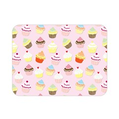 Baby Pink Valentines Cup Cakes Double Sided Flano Blanket (mini)