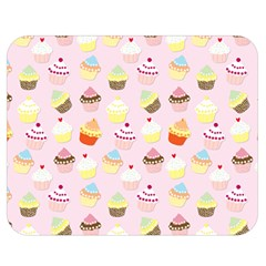 Baby Pink Valentines Cup Cakes Double Sided Flano Blanket (medium)