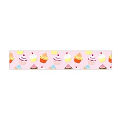Baby Pink Valentines Cup Cakes Flano Scarf (mini)