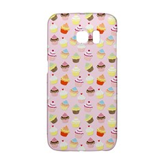 Baby Pink Valentines Cup Cakes Galaxy S6 Edge