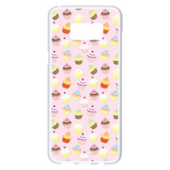 Baby Pink Valentines Cup Cakes Samsung Galaxy S8 Plus White Seamless Case