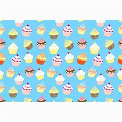 Pale Pastel Blue Cup Cakes Canvas 12  X 18