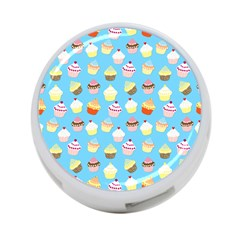 Pale Pastel Blue Cup Cakes 4 Port Usb Hub (one Side)