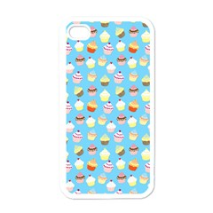 Pale Pastel Blue Cup Cakes Apple Iphone 4 Case (white)