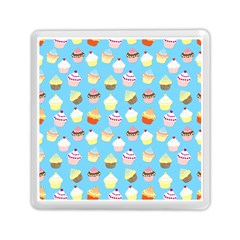 Pale Pastel Blue Cup Cakes Memory Card Reader (square)