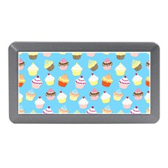 Pale Pastel Blue Cup Cakes Memory Card Reader (mini)