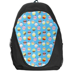 Pale Pastel Blue Cup Cakes Backpack Bag