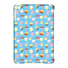 Pale Pastel Blue Cup Cakes Apple Ipad Mini Hardshell Case (compatible With Smart Cover)