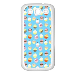 Pale Pastel Blue Cup Cakes Samsung Galaxy S3 Back Case (white)