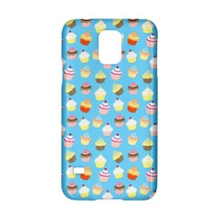 Pale Pastel Blue Cup Cakes Samsung Galaxy S5 Hardshell Case