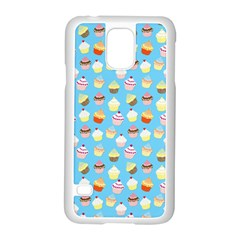 Pale Pastel Blue Cup Cakes Samsung Galaxy S5 Case (white)
