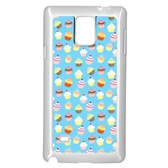 Pale Pastel Blue Cup Cakes Samsung Galaxy Note 4 Case (white)