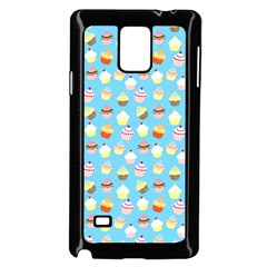 Pale Pastel Blue Cup Cakes Samsung Galaxy Note 4 Case (black)