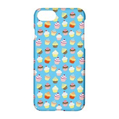 Pale Pastel Blue Cup Cakes Apple Iphone 7 Hardshell Case