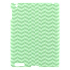 Classic Mint Green & White Herringbone Pattern Apple Ipad 3/4 Hardshell Case