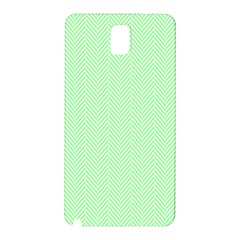 Classic Mint Green & White Herringbone Pattern Samsung Galaxy Note 3 N9005 Hardshell Back Case